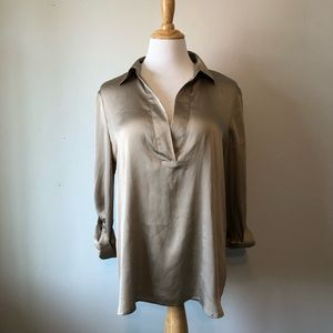 EUC- THE LIMITED- Gold Long Sleeved Blouse- Size L